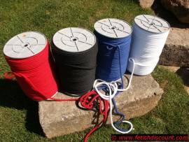Seil, 8mm, gefärbt, reine Baumwolle, nach Maß - pure cotton rope - Bild vergrößern