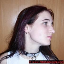 Halsband mit Edelstahl