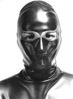 Latex Maske - fullhood, aufblasbar