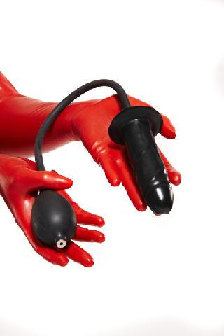 Aufblasbarer Latexdildo Medium / inflatable medium sized latex dildo