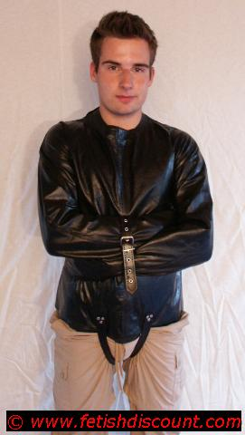 Leder Zwangsjacke / leather straitjacket
