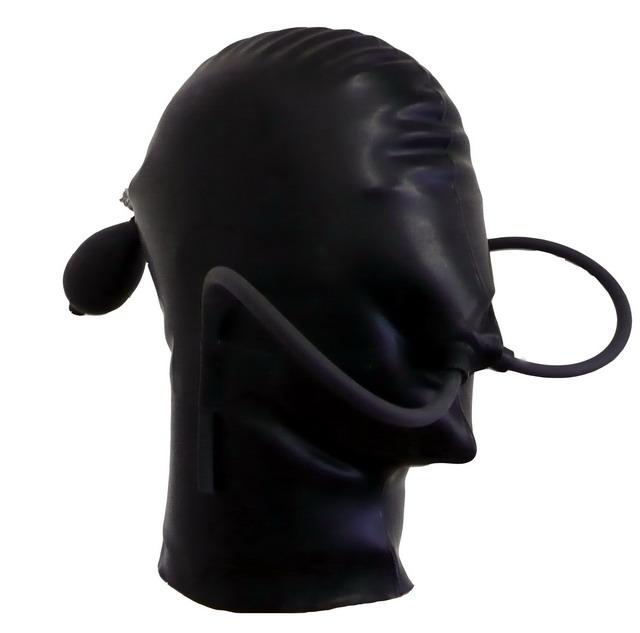 Aufblasbare Kopfmaske mit Nasenschläuchen