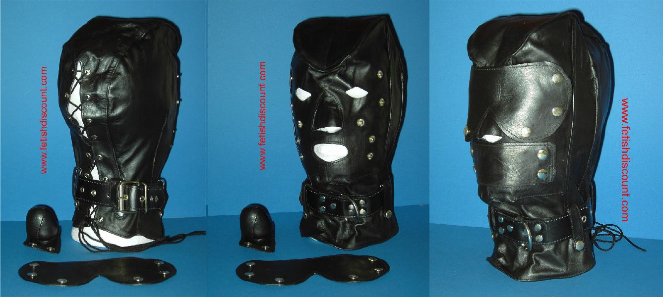 Deluxe Ledermaske mit Extras / Fullhood with collar