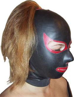 Latex Maske - fullhood, cat, Lady