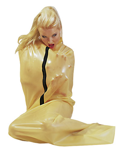 Transparent Latex Bodybag, heavy rubber saunabag - saunasack