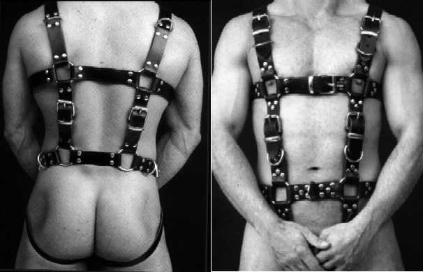 Ganzkörper Harness/ unisex leather harness