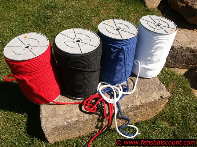 Seil, 8mm, gefärbt, reine Baumwolle, nach Maß - pure cotton rope
